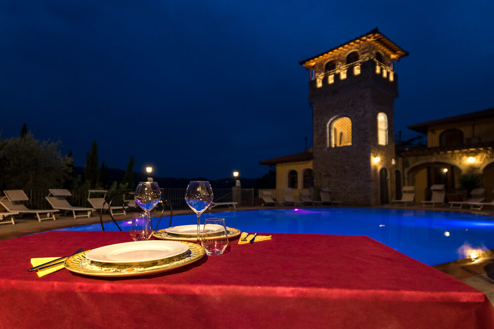 Piscina Notte Villa La Malva